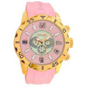 ferendi zeal pink γυναικείο ρολόι με λουρί σιλικόνης