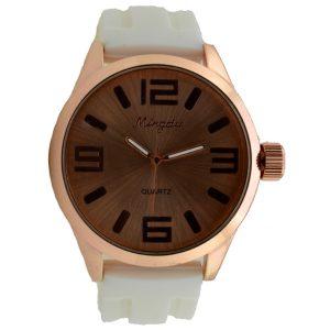 Γυναικείο ρολόι με λευκό λουρί 0024
