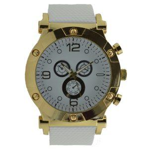 Γυναικείο ρολόι με λουρί σιλικόνης λευκό 038