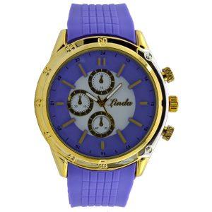 Γυναικείο ρολόι με λουρί σιλικόνης μοβ 032