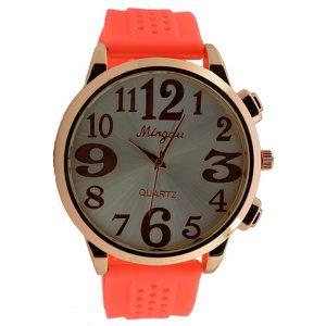 Γυναικείο ρολόι με πορτοκαλί λουρί 026