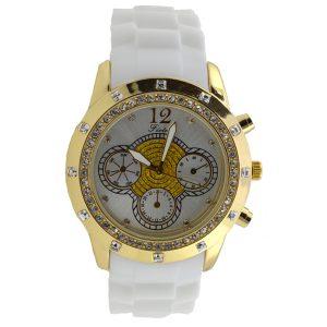 Γυναικείο ρολόι με στρας λευκό 0038