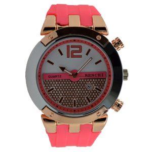 Γυναικείο ρολόι με στρας ροζ 017