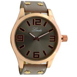 Γυναικείο ρολόι Linda ανθρακί 05