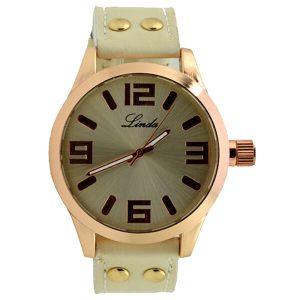 Γυναικείο ρολόι Linda εκρού 03