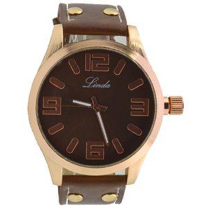 Γυναικείο ρολόι Linda καφέ 10