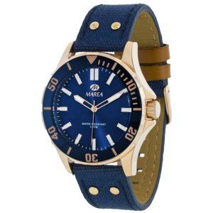 marea-54049-2 ανδρικό ρολόι με μπλε λουράκι από ύφασμα