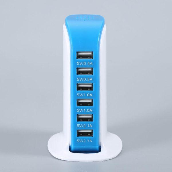 Σταθμός φόρτισης USB με 6 θύρες 1
