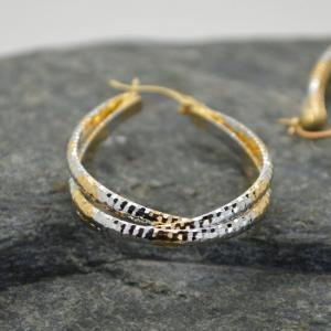 Γυναικεία σκουλαρίκια δάκρυ από ανοξείδωτο ατσάλι σε χρυσό λευκό.